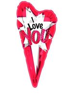 Valentine's Day Balloons I Love You Jumbo Slim Mylar Balloon Image
