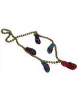 "Luau Party Wear 36"" Beach Sandals Bead Necklace Image"