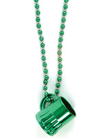 St. Patrick's Day Party Wear Green Mug Bead Necklaces Image