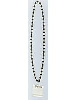Graduation Party Wear Black Bead Necklace with Diploma Image