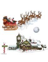 Christmas Decorations Santa Workshop Props Image