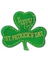 St. Patrick's Day Decorations Glittered Foil Shamrock Image