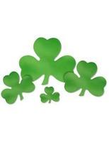"St. Patrick's Day Decorations 5"" Foil Shamrock Cutout Image"