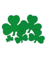 "St. Patrick's Day Decorations 20"" Printed Shamrock Cutout Image"