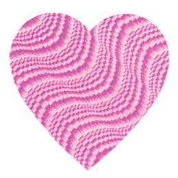 "Valentine's Day Decorations 4"" Embossed Pink Heart Cutout Image"