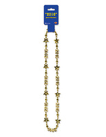 New Years Party Wear 2016 Gold Party Bead Necklace Image