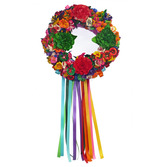 Cinco de Mayo Decorations Flower Cornhusk Wreath Image