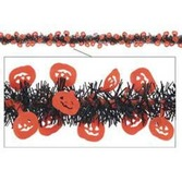 Halloween Decorations Metallic Pumpkin Garland Image
