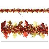 Thanksgiving Decorations Metallic Autumn Leaves Garland Image