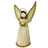 Christmas Decorations Large Cornhusk Angel Image