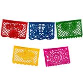 Cinco de Mayo Decorations Small Plastic Picado Banner - Multicolor Image