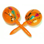 Cinco de Mayo Favors & Prizes Orange Maracas Image