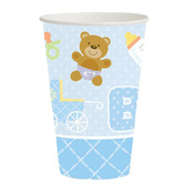 Baby Shower Table Accessories Teddy Baby Blue Cups Image