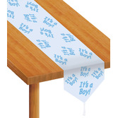 "Baby Shower Table Accessories ""It's A Boy"" Table Runner Image"