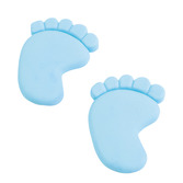 Baby Shower Favors & Prizes Light Blue Baby Feet Erasers Image