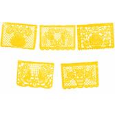 Cinco de Mayo Decorations Golden Yellow  Plastic Picado Image