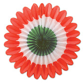 Cinco de Mayo Decorations Red, White and Green Mini Tissue Fans Image