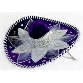 Cinco de Mayo Hats & Headwear Purple and White Mariachi Sombrero Image