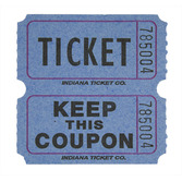 Tickets & Wristbands Blue Double Ticket Roll Image