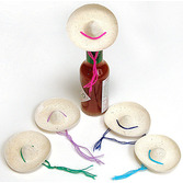 Cinco de Mayo Decorations Mini Straw Sombrero Image
