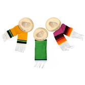 """Cinco de Mayo Decorations 2.5"""" Sombrero with Serape Image"""