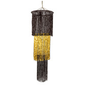 New Years Decorations Giant 3-Tier Black and Gold Chandelier Image
