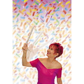 New Years Decorations Confetti Wand Image
