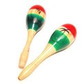 Cinco de Mayo Favors & Prizes Tricolor Wooden Maracas Image