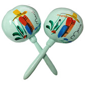 Cinco de Mayo Favors & Prizes Mint Green Maracas Image