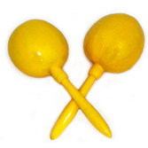 Cinco de Mayo Favors & Prizes Plain Yellow Maracas Image