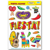 Cinco de Mayo Decorations Fiesta Glass Clings Image