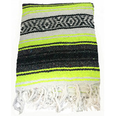 Fiesta Decorations Neon Yellow Mexican Blanket Image