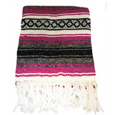 Cinco de Mayo Decorations Hot Pink Mexican Blanket Image