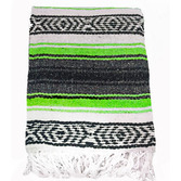 Cinco de Mayo Decorations Lime Green Mexican Blanket Image