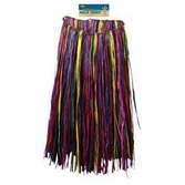 Luau Party Wear XL Multicolor Raffia Hula Skirt Image