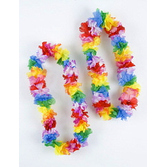 Luau Party Wear Rainbow Color Carnation Lei Image
