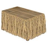 Luau Table Accessories Raffia Table Skirt Image