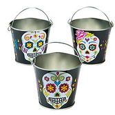 Day of the Dead Favors & Prizes Day of the Dead Metal Pail Image