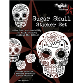 Day of the Dead Favors & Prizes White Sugar Skull Stickers Image
