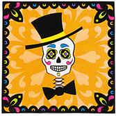 Day of the Dead Table Accessories Day of the Dead Luncheon Napkins Image