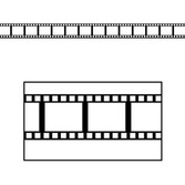 Awards Night & Hollywood Decorations Filmstrip Border Trim Image