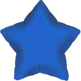 New Years Balloons Blue Star Mylar Balloon Image