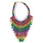 Cinco de Mayo Party Wear Rainbow Bead Choker Image