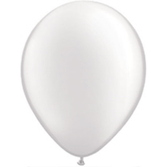 "Wedding Balloons 11"" Metallic White Balloons Image"