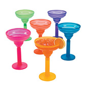 Cinco de Mayo Table Accessories Two-Tone Margarita Glass Image