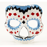Cinco de Mayo Party Wear Day of the Dead Male Mask with Elastic Image