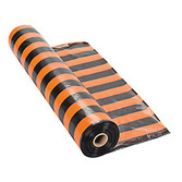 Halloween Table Accessories Orange and Black Striped Table Roll  Image