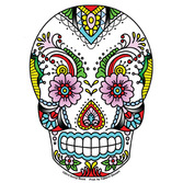 Day of the Dead Favors & Prizes Lace Sugar Skull Sticker Image