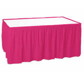 Valentine's Day Table Accessories Table Skirt Hot Pink Image