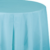 Baby Shower Table Accessories Round Table Cover Light Blue Image